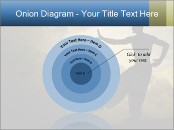 Silhouette of Martial Arts Master PowerPoint Template - Slide 61