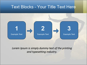 Silhouette of Martial Arts Master PowerPoint Template - Slide 71