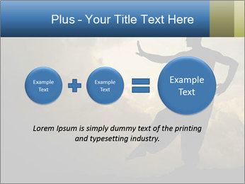 Silhouette of Martial Arts Master PowerPoint Template - Slide 75
