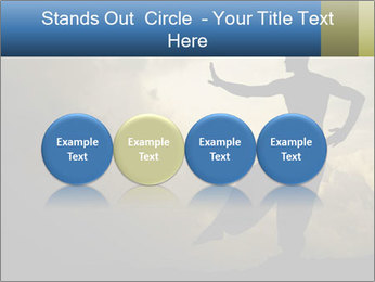 Silhouette of Martial Arts Master PowerPoint Template - Slide 76