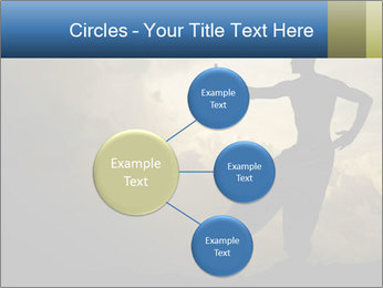 Silhouette of Martial Arts Master PowerPoint Template - Slide 79