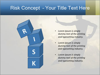 Silhouette of Martial Arts Master PowerPoint Template - Slide 81