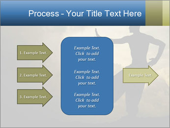 Silhouette of Martial Arts Master PowerPoint Template - Slide 85