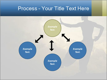Silhouette of Martial Arts Master PowerPoint Template - Slide 91