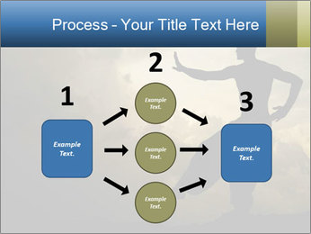 Silhouette of Martial Arts Master PowerPoint Template - Slide 92