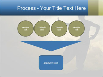 Silhouette of Martial Arts Master PowerPoint Template - Slide 93