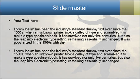 Silhouette of Martial Arts Master PowerPoint Template - Slide 2