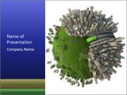 Green Area in Urban World PowerPoint Templates