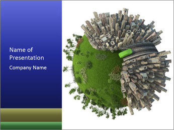 Green Area in Urban World PowerPoint Templates - Slide 1