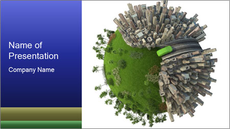 Green Area in Urban World PowerPoint Template