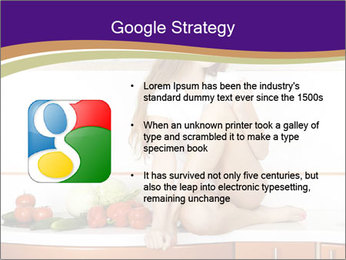 Vegan Girl Sitting on Kitchen Table PowerPoint Template - Slide 10