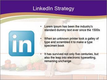 Vegan Girl Sitting on Kitchen Table PowerPoint Template - Slide 12