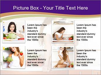 Vegan Girl Sitting on Kitchen Table PowerPoint Template - Slide 14