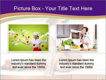 Vegan Girl Sitting on Kitchen Table PowerPoint Template - Slide 18