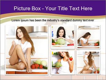 Vegan Girl Sitting on Kitchen Table PowerPoint Template - Slide 19