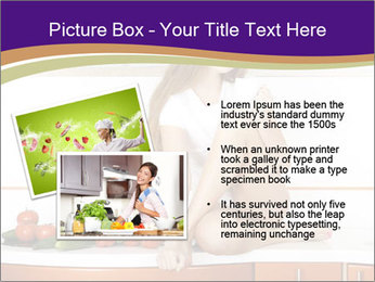 Vegan Girl Sitting on Kitchen Table PowerPoint Template - Slide 20