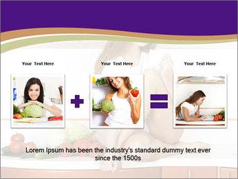 Vegan Girl Sitting on Kitchen Table PowerPoint Template - Slide 22