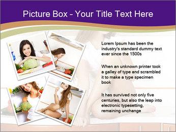 Vegan Girl Sitting on Kitchen Table PowerPoint Template - Slide 23