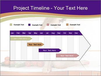 Vegan Girl Sitting on Kitchen Table PowerPoint Template - Slide 25
