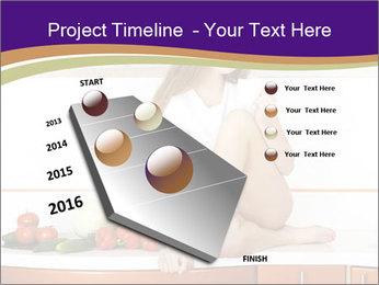 Vegan Girl Sitting on Kitchen Table PowerPoint Template - Slide 26