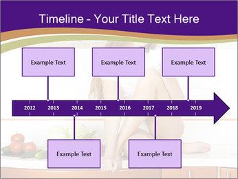 Vegan Girl Sitting on Kitchen Table PowerPoint Template - Slide 28