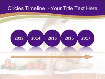 Vegan Girl Sitting on Kitchen Table PowerPoint Template - Slide 29
