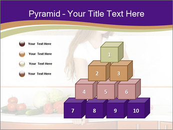 Vegan Girl Sitting on Kitchen Table PowerPoint Template - Slide 31