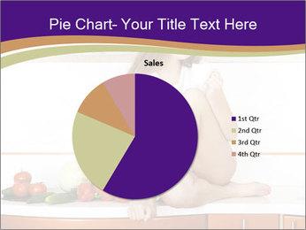 Vegan Girl Sitting on Kitchen Table PowerPoint Template - Slide 36
