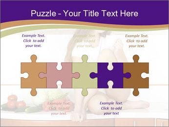 Vegan Girl Sitting on Kitchen Table PowerPoint Template - Slide 41