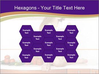 Vegan Girl Sitting on Kitchen Table PowerPoint Template - Slide 44