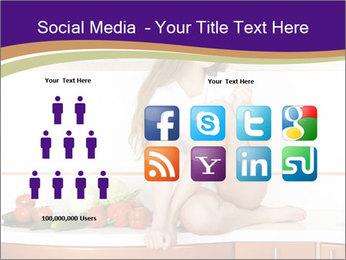 Vegan Girl Sitting on Kitchen Table PowerPoint Template - Slide 5