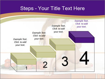 Vegan Girl Sitting on Kitchen Table PowerPoint Template - Slide 64