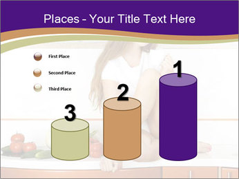 Vegan Girl Sitting on Kitchen Table PowerPoint Template - Slide 65