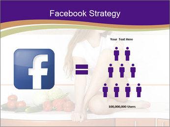 Vegan Girl Sitting on Kitchen Table PowerPoint Template - Slide 7