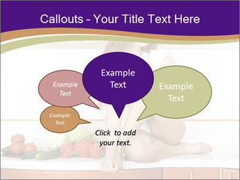 Vegan Girl Sitting on Kitchen Table PowerPoint Template - Slide 73