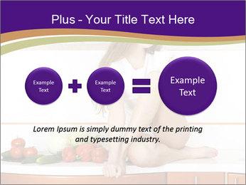 Vegan Girl Sitting on Kitchen Table PowerPoint Template - Slide 75
