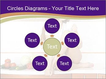 Vegan Girl Sitting on Kitchen Table PowerPoint Template - Slide 78