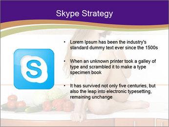 Vegan Girl Sitting on Kitchen Table PowerPoint Template - Slide 8