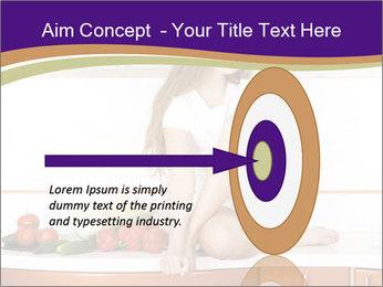 Vegan Girl Sitting on Kitchen Table PowerPoint Template - Slide 83