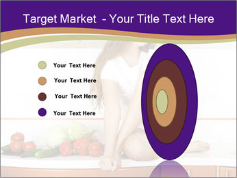 Vegan Girl Sitting on Kitchen Table PowerPoint Template - Slide 84