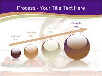 Vegan Girl Sitting on Kitchen Table PowerPoint Template - Slide 87
