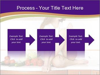 Vegan Girl Sitting on Kitchen Table PowerPoint Template - Slide 88