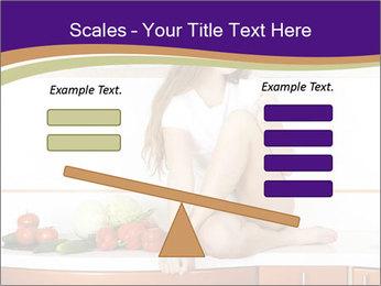Vegan Girl Sitting on Kitchen Table PowerPoint Template - Slide 89
