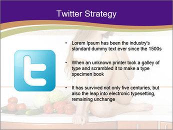 Vegan Girl Sitting on Kitchen Table PowerPoint Template - Slide 9