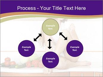 Vegan Girl Sitting on Kitchen Table PowerPoint Template - Slide 91
