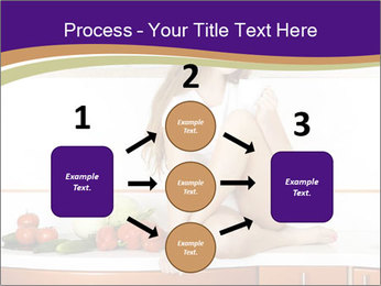 Vegan Girl Sitting on Kitchen Table PowerPoint Template - Slide 92