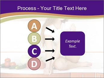 Vegan Girl Sitting on Kitchen Table PowerPoint Template - Slide 94