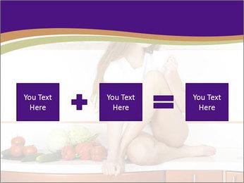 Vegan Girl Sitting on Kitchen Table PowerPoint Template - Slide 95