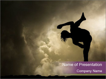 Dramatic Kungfu Fighter PowerPoint Template - Slide 1