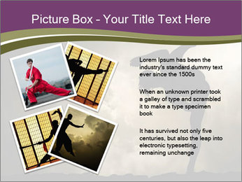 Dramatic Kungfu Fighter PowerPoint Template - Slide 23